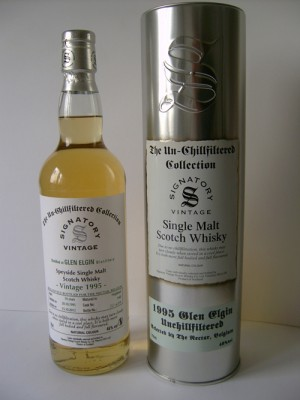 Glen Elgin 1995 bottled by Signatory for the Nectar