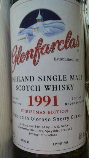 Glenfarclas Vintage 1991 Christmas Single Malt